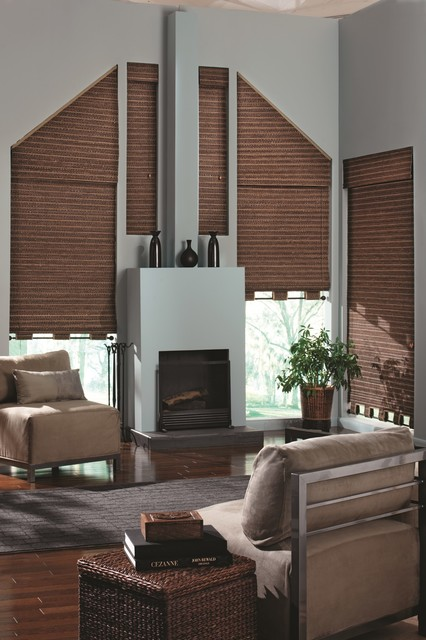 Bali Deluxe Woven Wood Shades traditional-living-room