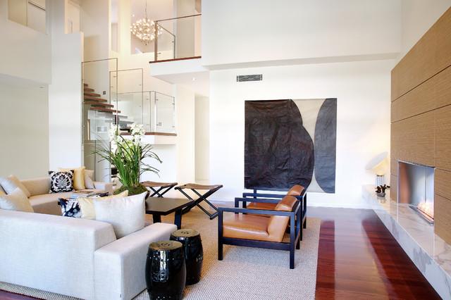 balmoral residence contemporary living room brisbane