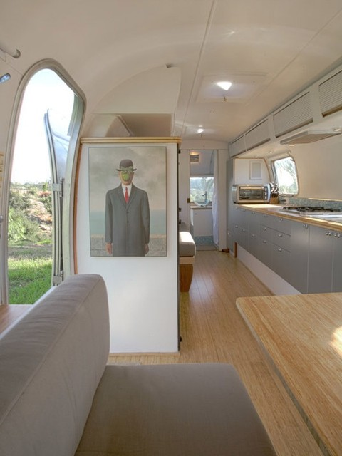 Airstream Interior Design Minimalist Fascinating Bamboo Flooring And Plywood In Airstream  Modern  Living Room . Decorating Inspiration