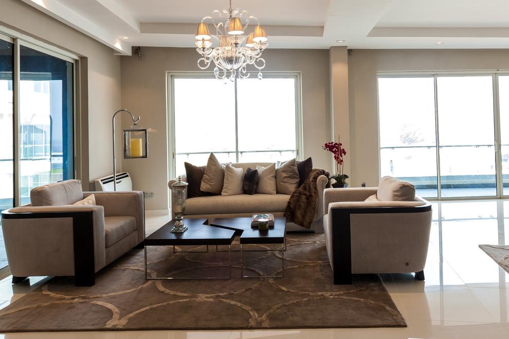 Banana Island Lagos Nigeria Contemporary Living Room Miami By Zelman Style Interiors