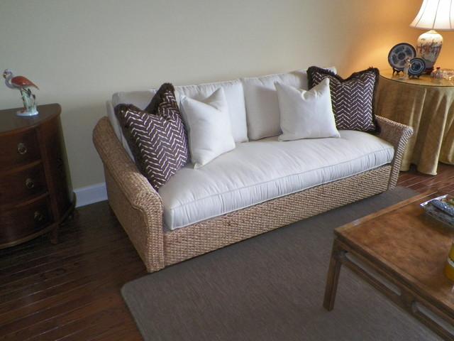 Banana Leaf Sofa Tropical Living Room