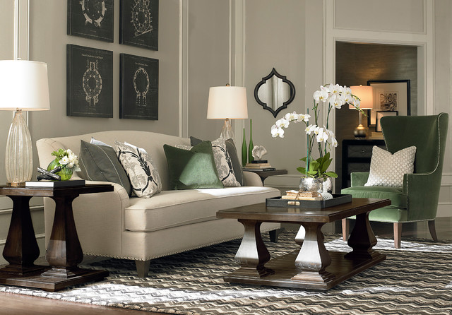 Banbury Sofa By Bassett Furniture Contemporary Living Room