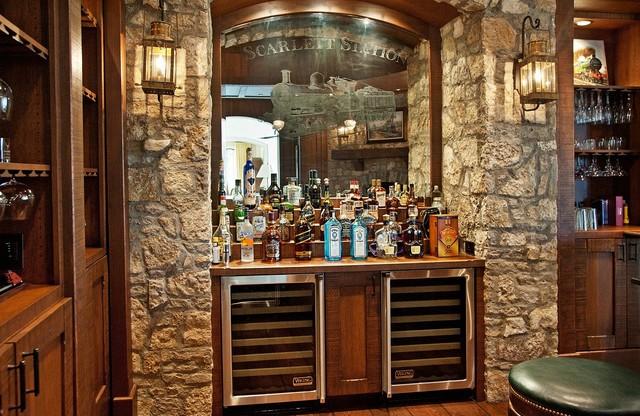 bar in the living room | Centerfieldbar.com