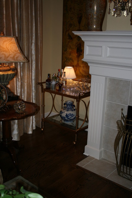 Bar Cart Traditional Living Room Kansas City