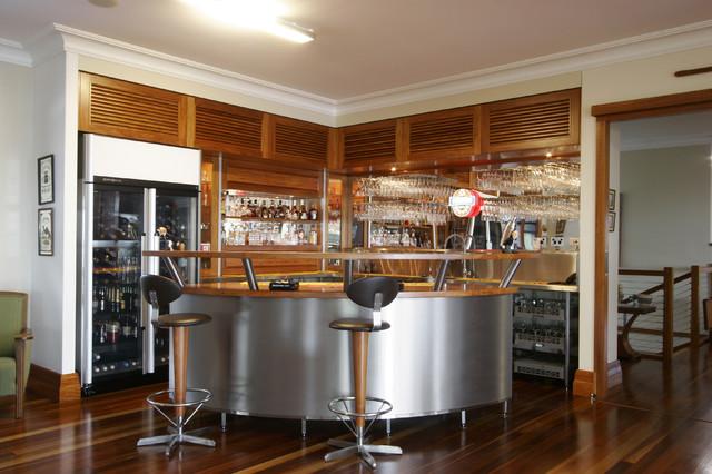 Bar contemporary-living-room