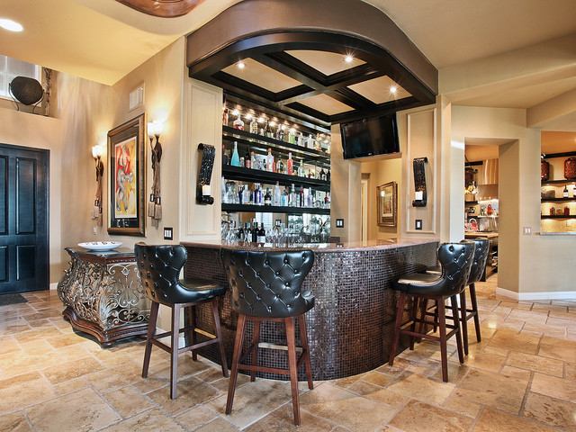 Bar Eclectic Living Room Orange County By Kelli