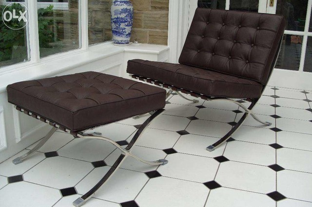 Groovy Barcelona Chair And Ottoman By Barcelona Designs Gmtry Best Dining Table And Chair Ideas Images Gmtryco