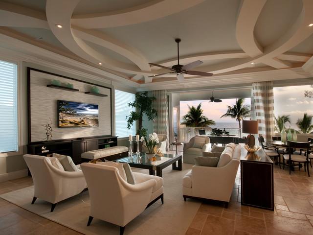 Barefoot Beach transitional-living-room