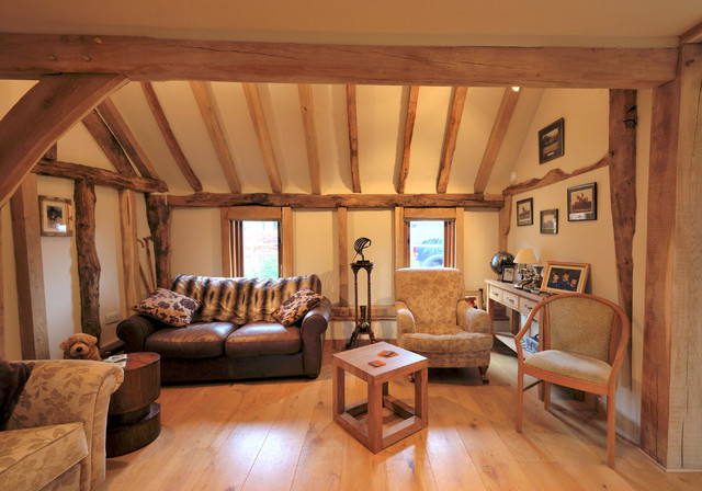barn conversion in kent uk rustic living room