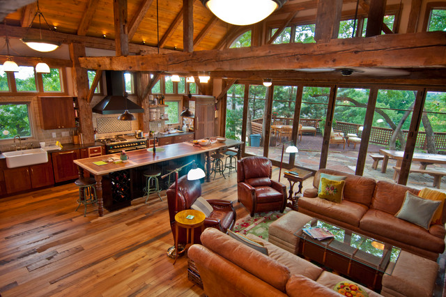 Barn frame house in denver colorado traditional for The family room denver