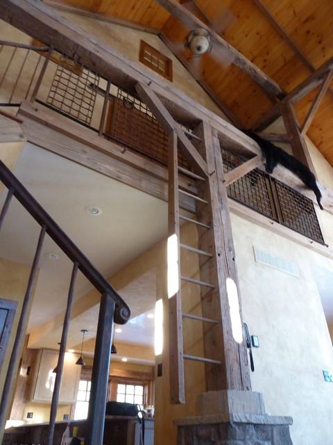 barn house traditional-living-room