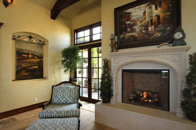 Baron Canyon Chateau mediterranean-living-room