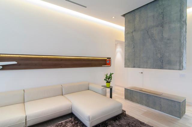 Baron Residence contemporary-vardagsrum