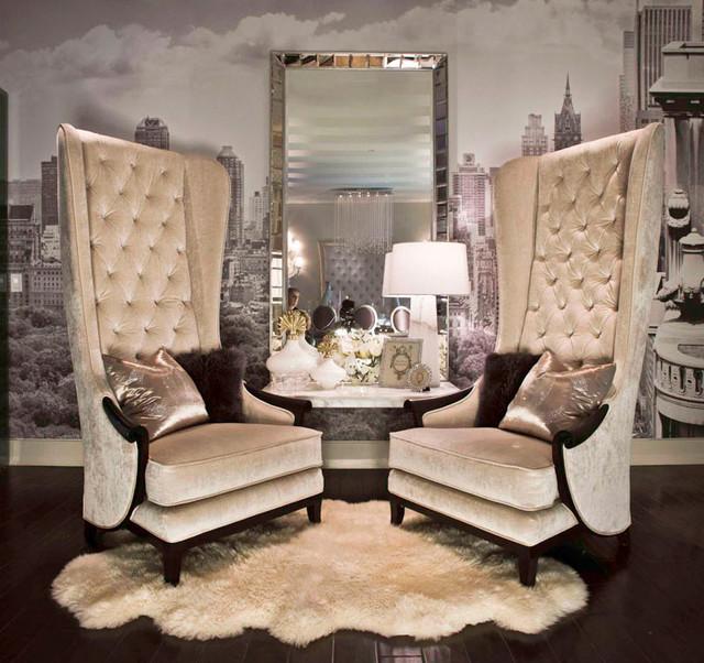 Baroque modern condo transitional living room los for Modern baroque living room