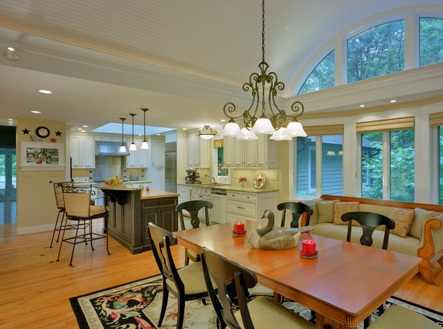 Barrel Vaulted Ceiling And Renovated Kitchen Traditional