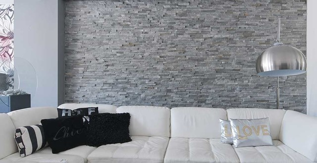 Barroco stone panels wall decoration modern living for Modern living room wall