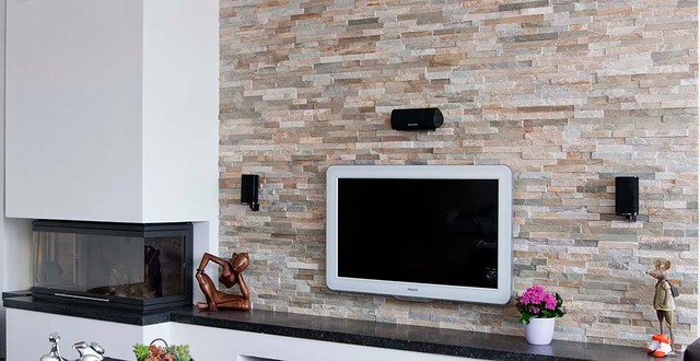 Barroco stone panels wall decoration modern living room amsterdam by barroco - Tiles design for living room wall ...