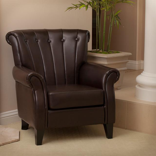 Barron Leather Club Chair modern-living-room