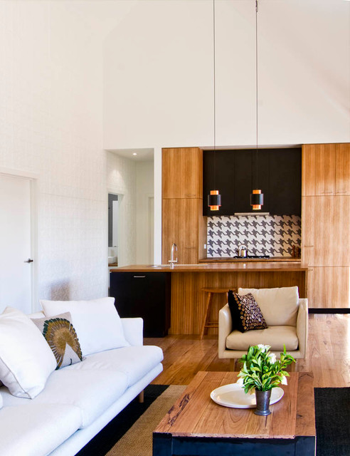 Barwon Heads Beach House living & kitchen contemporary-living-room