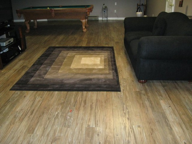 Basement floor modern living room bridgeport by for Good carpet for basement floors