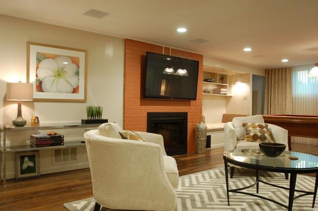 Basement re-model 2 traditional-living-room