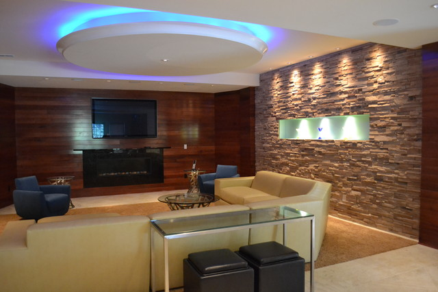 Basement Quot Man Cave Quot Contemporary Living Room St