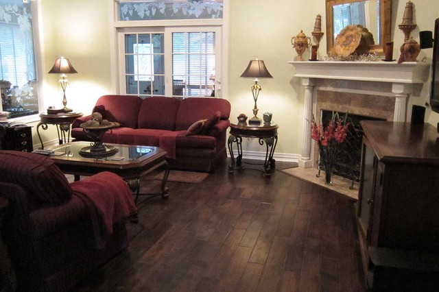Bathroom u0026 fireplace remodel u0026 hardwood flooring - Traditional - Living Room - dallas - by The ...