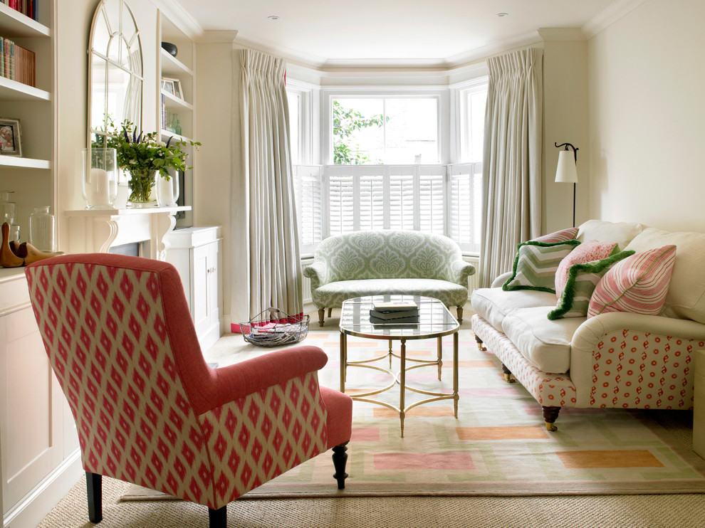 Living room - traditional living room idea in London