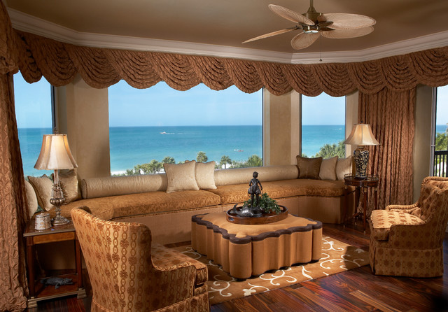 Bay Colony Private Residence mediterranean-living-room