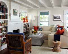Bay Front Summer Home traditional-living-room