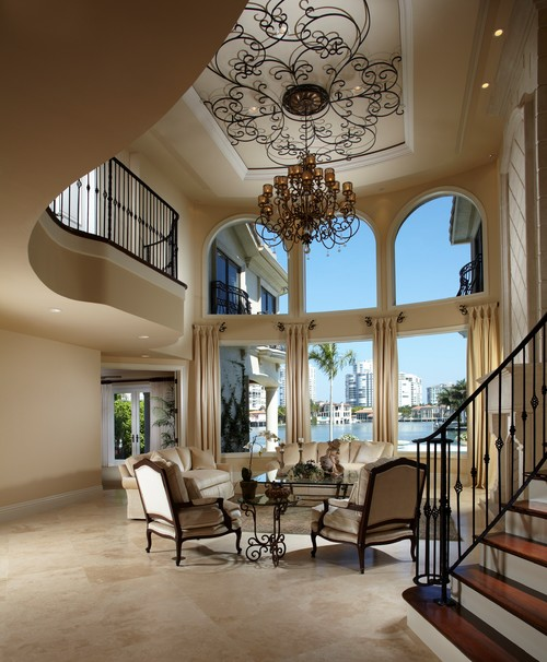 Mediterranean House Design Ideas 11 Most Charming Ones In: Love The Wrought Iron Ceiling Medallion, Where Can I Get