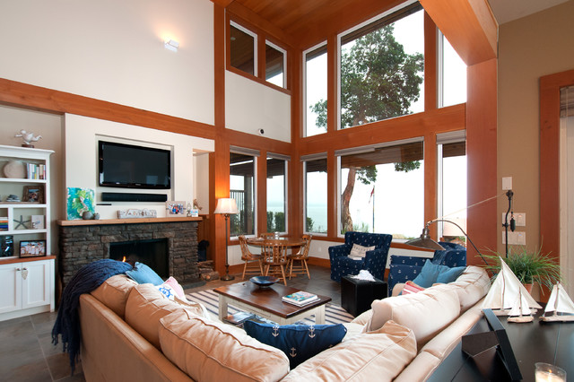 Bay House beach-style-living-room