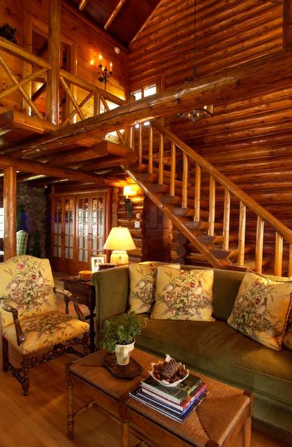Bay Lake Cabin Rustic Living Room