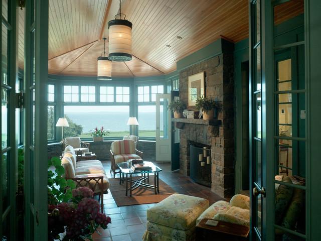 Bay's Edge Hall traditional-living-room