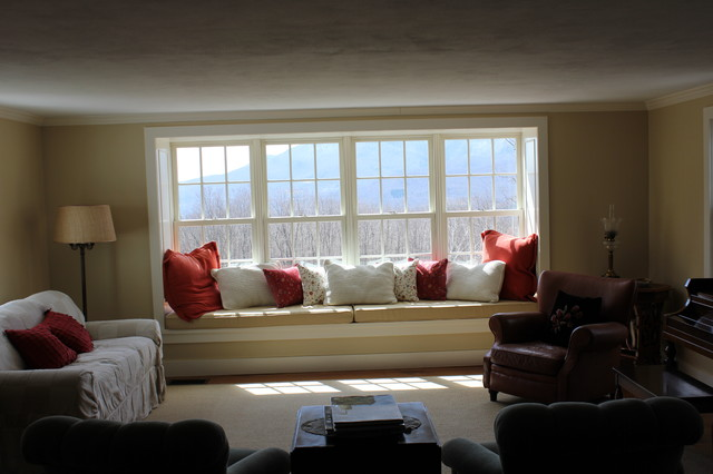 bay window build out traditional living room