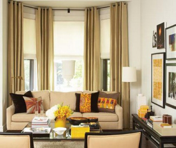 Bay window treatment Contemporary drapes window treatments