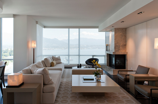 bayshore modern living room vancouver by dasal