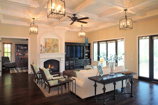 Bayshore Estates Custom Home mediterranean-living-room