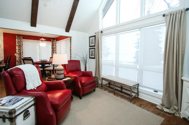 Bayside Cottage Traditional Living Room Milwaukee