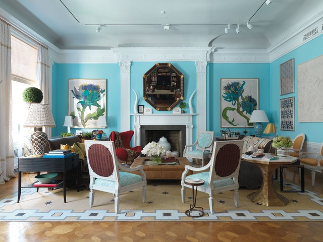 contemporary living room by Rizzoli New York