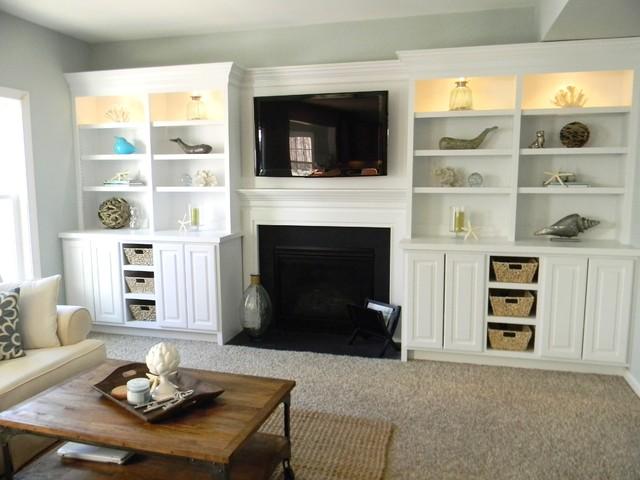 Beach Coastal Family Room - Beach Style - Living Room - Richmond ...