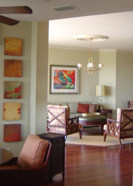 Beach Condo 1 transitional-living-room