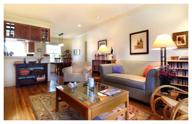 Beach Condo beach-style-living-room