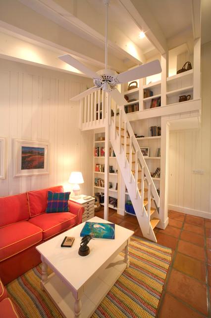 Houzz Cottage Living Room: Beach Cottage Condo