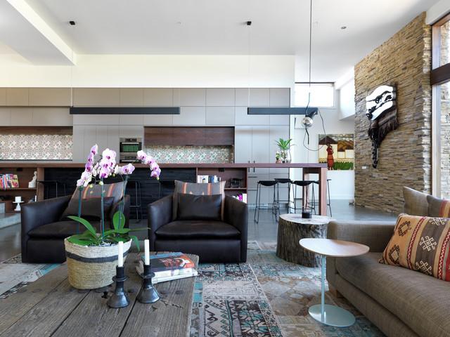 Portsea Holiday Home contemporary-living-room