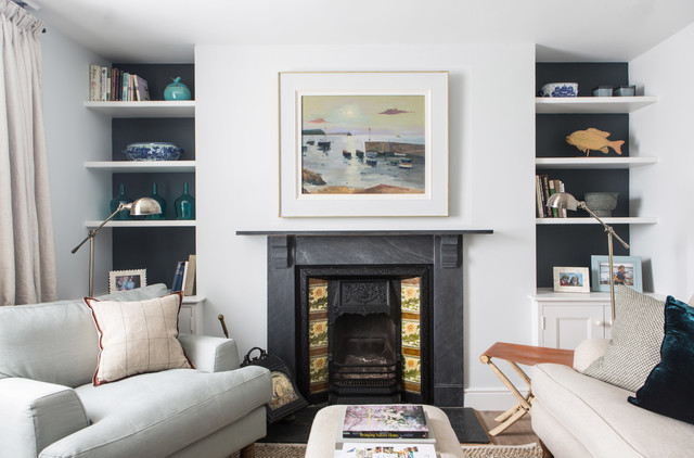 Hanging Art Above A Fireplace