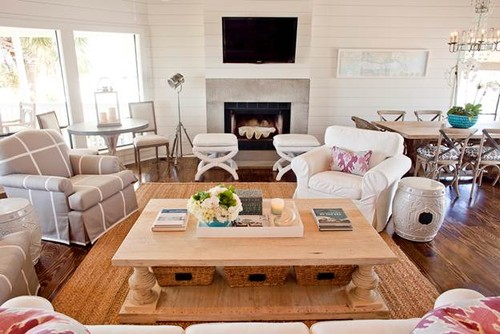 Beach House contemporary living room