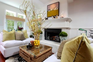 Beach House eclectic living room
