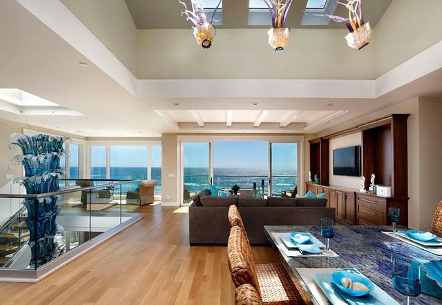 Beach House Modern Craftsman For Bord De Mer Salon
