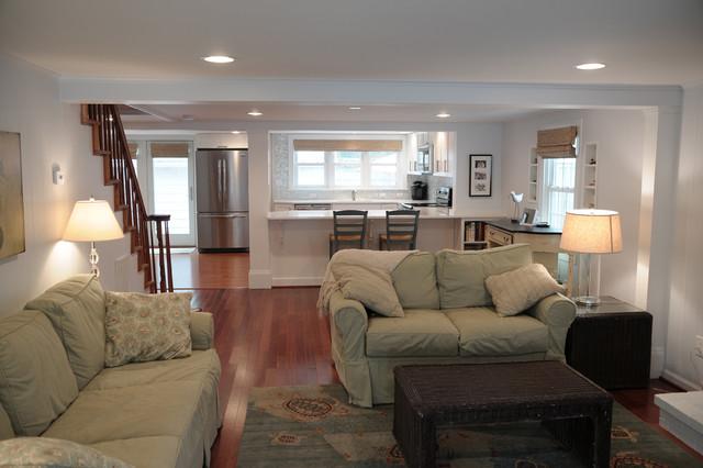 Beach House Open Floor Plan Coastal Living Room Part 44